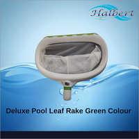 Deluxe Pool Leaf Rake Green Color