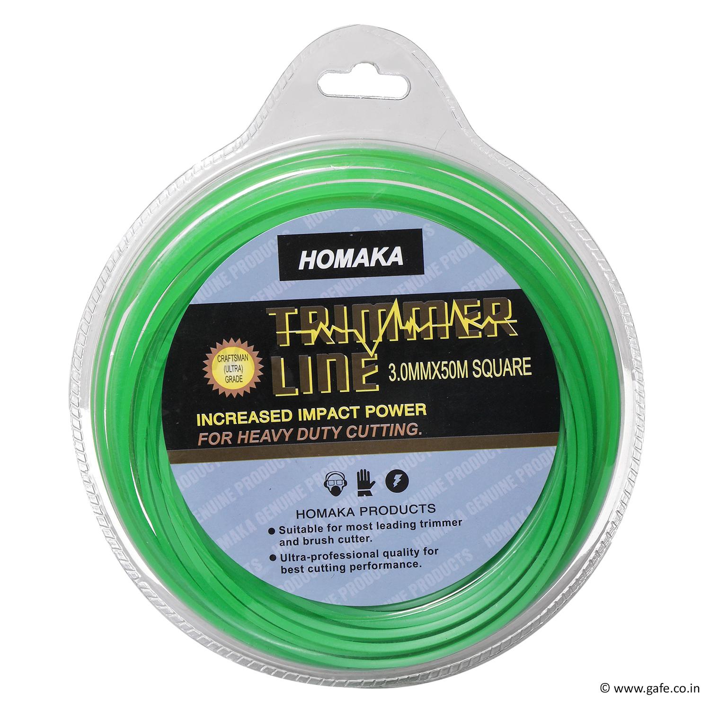 50 Mtr Green Square 3mm Nylon Trimmer Line