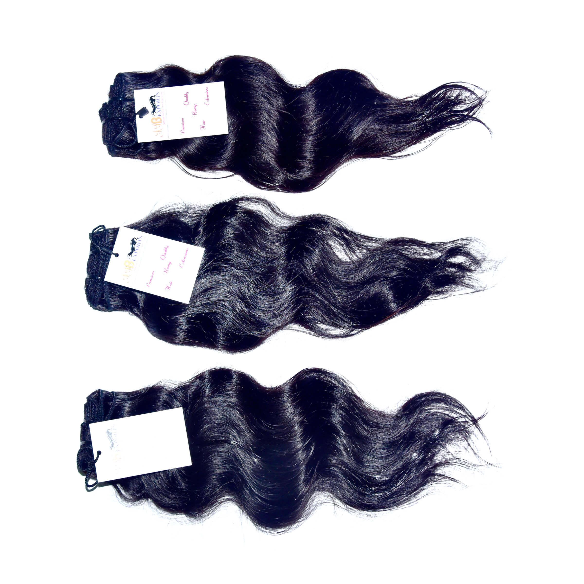 Raw Virgin Peruvian Mink Unprocessed Wavy Hair Extension