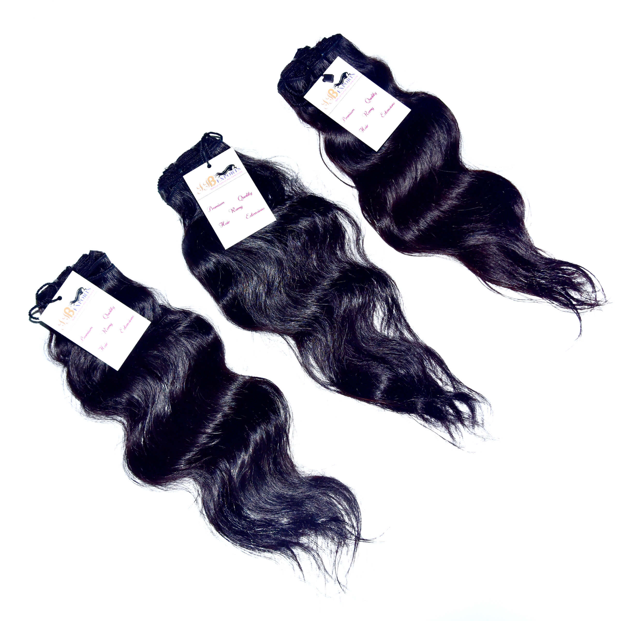 Raw Virgin Single Donor Indian Unprocessed Machine Weft Wavy Hair Extension