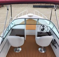 Al600d Aluminum Luxury Yacht Fishing Boat Jet Boat Speed Boat Open Type With Teak Floor And Boat Canopy