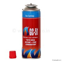 Butane Gas Cartridge, GC 51, 225 ML