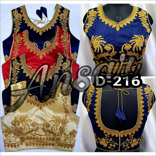 Open Back Embroidery Blouse