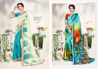 Rose Valley Daily Wear Georgette With Lace Sarees