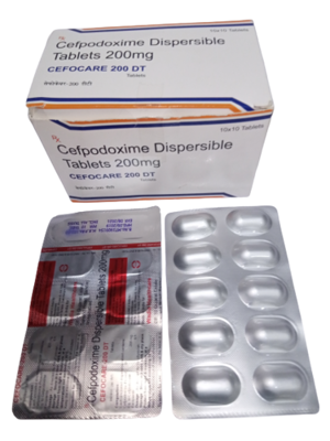Cefpodoxime Dispersible Tablets