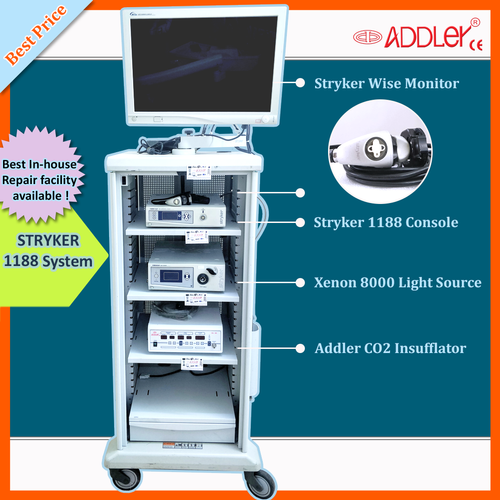 Stryker Laparoscopy Trolley Cart Endoscopy Laparoscopic Medical Monitor