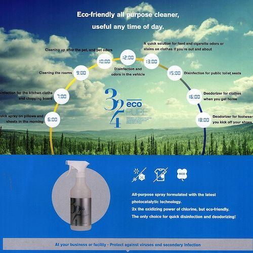 Eco Pure Photocatalytic Oxidation OH Radical Disinfectant Deodorizing Powder