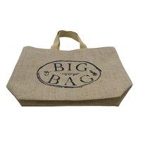 Cotton Web Handle Logo Print PP Laminated Jute Tote Bag
