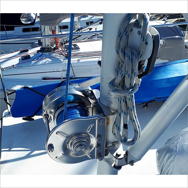 Stainless Steel Rotating Hand Winches Electropolishing Model ESB Type-SI