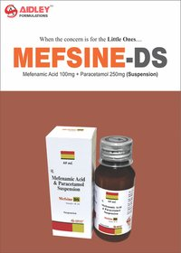 Mefenamic Acid 100mg + Paracetamol 250mg  (Suspension)
