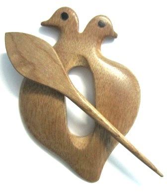 Bird Shawl Pin