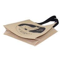 Long Cotton Web Handle Jute Bag