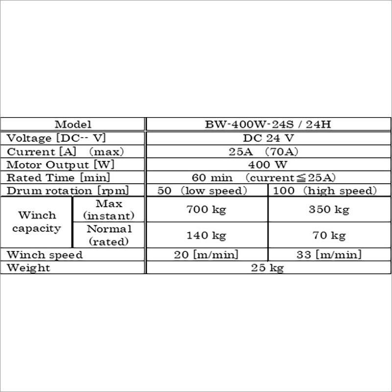 Vertical Type Battery Winch