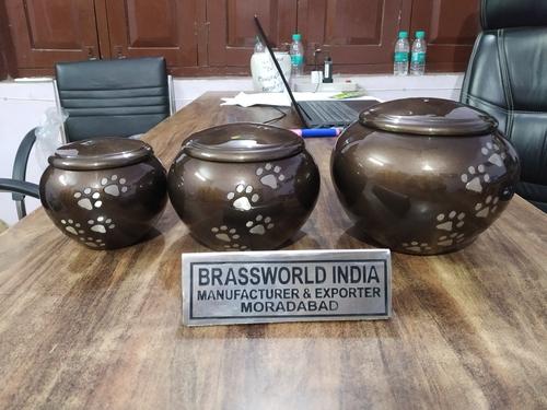 Brass Pet Paws Brown Odyssey Urn Funeral Supplies