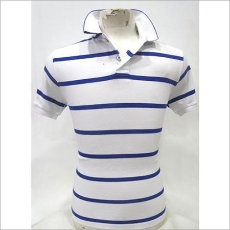 Mens Blue & White T-Shirt