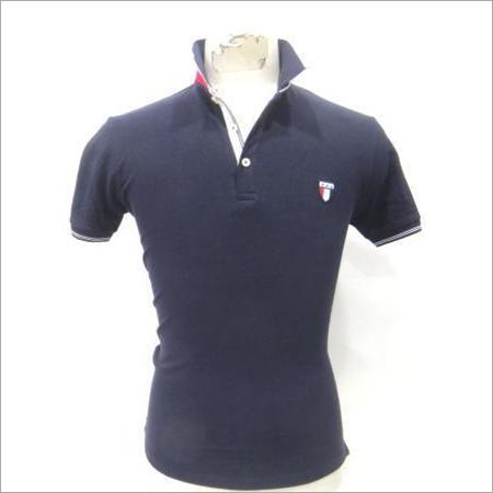 Mens Collar Blue T-Shirts