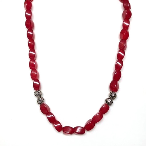 Quartz With 92.5 Silver Beads Necklace