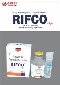 Piperacillin 4000mg + Tazobactam 500mg (Injection)