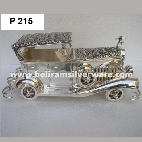 Classic Car Design Silver Box