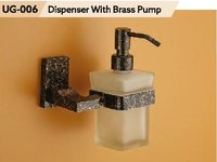 Designer Soap Dispener With Brass Pump