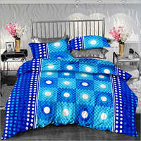 Cotton Printed Double Size Bed Sheet Blue Print