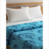 Blue Cotton Printed Double Size Comforter