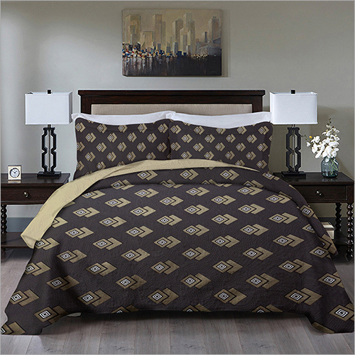 Double Size Bed Spread Black Colour