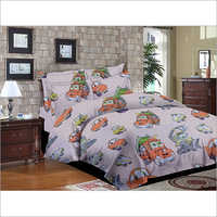 Single Size Kids Printed Bed Sheet