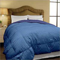 Blue Micro Stripe Dyed Double Size Comforter