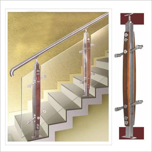 Wood Balustrade Fitting Glass Stair Handrailing