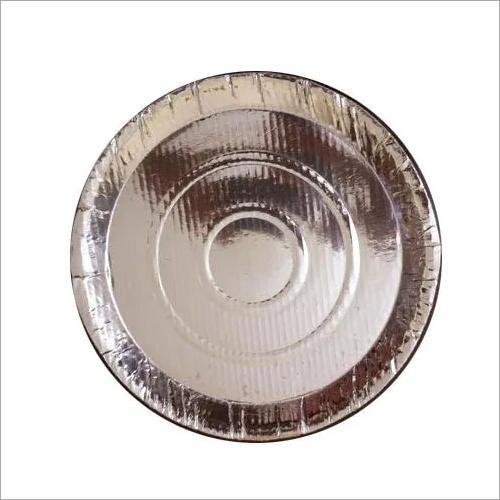 Silver Foil Paper Plate