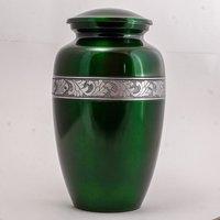 Green Aluminium Adult Urn