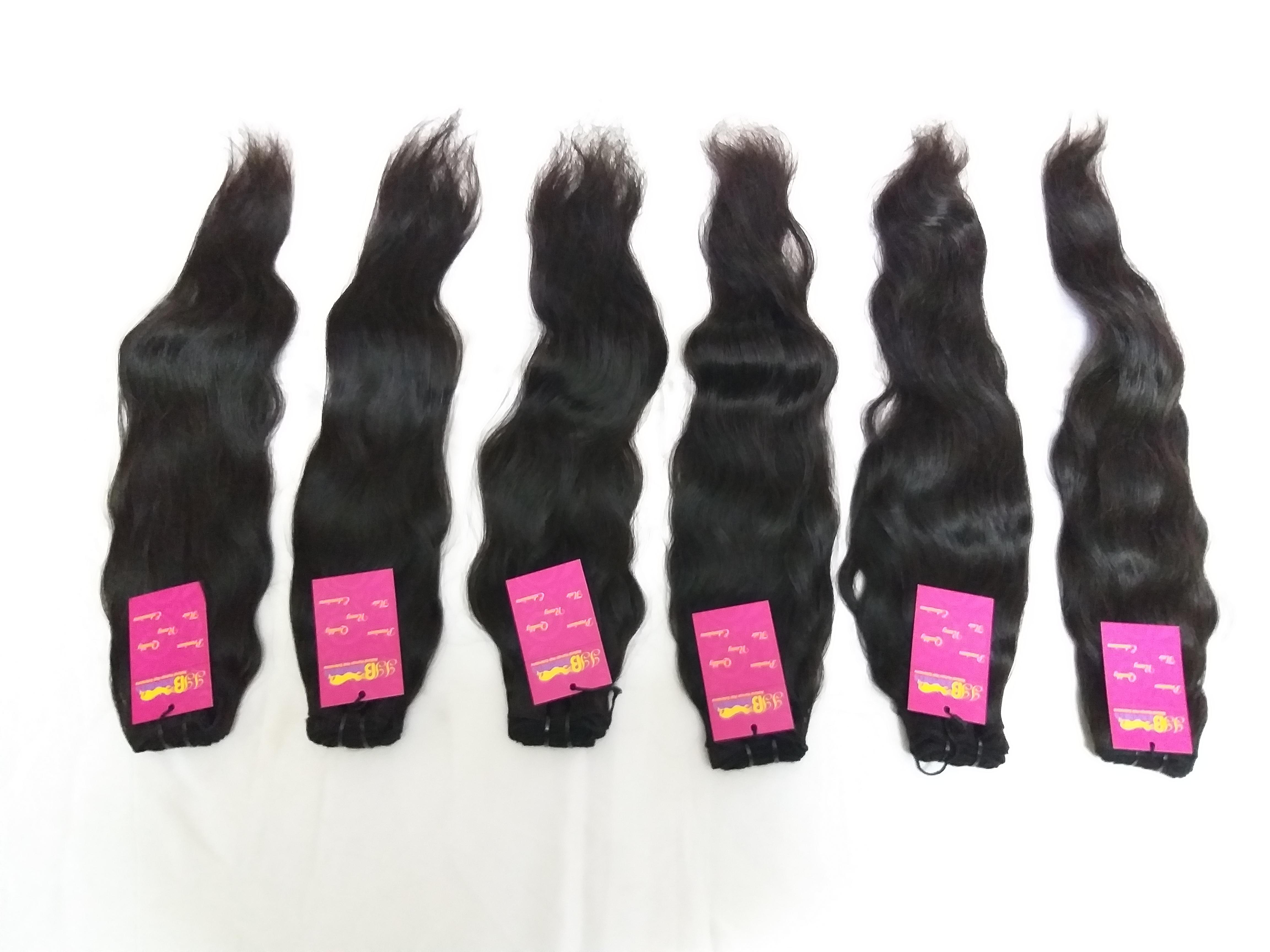 High Quality Natural Wavy Bulk Human Hair Extension
