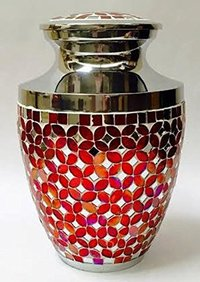 Red Mosaic Cremation Urn