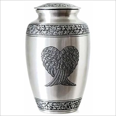 WantItAll Guardian Angel Wings Silver Urn