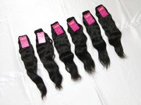 High Quality Raw Unprocessed Virgin Natural Wavy Human Hair Extension