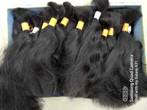 Bulk Double Drawn Indian Remy Human Hair Extensions