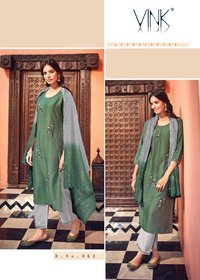 Designer Readymade Straight Suit with Fancy Dupatta