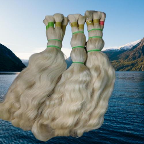 High Grade Blonde Human Hair Extensions With Bulk Natural Virgin Hair