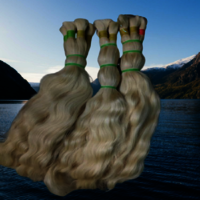 High Grade Blonde Human Hair Extensions With Bulk Natural Virgin Hair