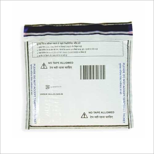 Sequential Barcode With Tamper Evident Ldpe Closure Bag