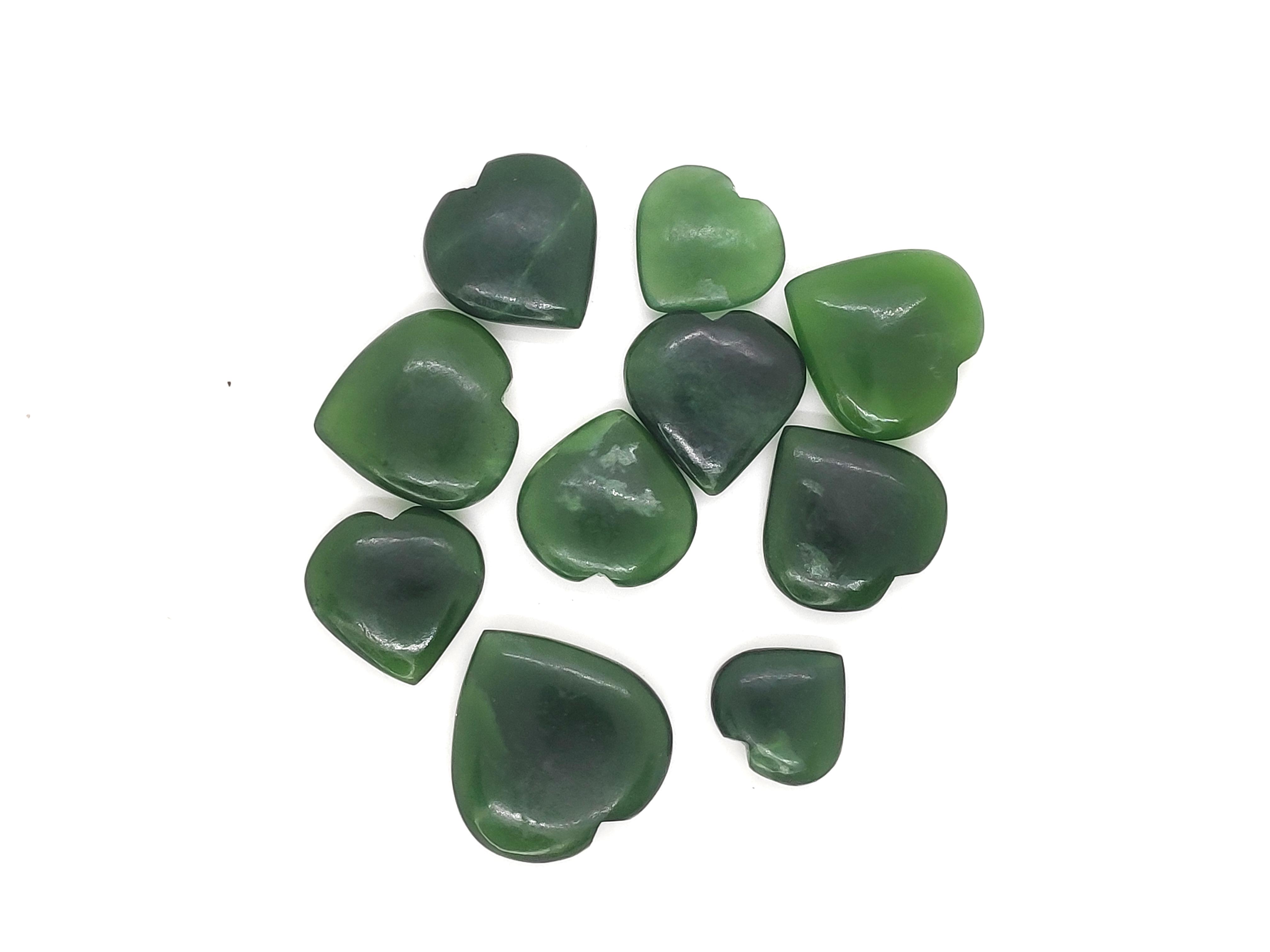 Green Serpentine Heart