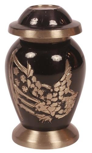 Brass Etched keepsake Urn
