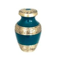 Engraved Blue Mini Keepsake Urn