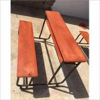Wooden School Bench