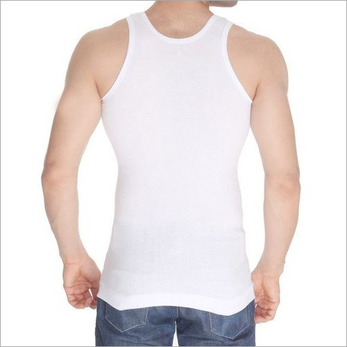 Mens Ribbed Cotton Vest