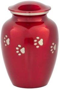 Red Pet Cremation Urn