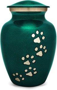 Beautiful Green Pet Urn