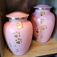 Beautiful Pink Pet Urn For Ashes