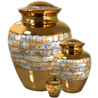 Mother Of Pearl Pet Urns